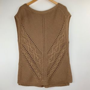 White House Black Market Cable Knit Poncho XS Top